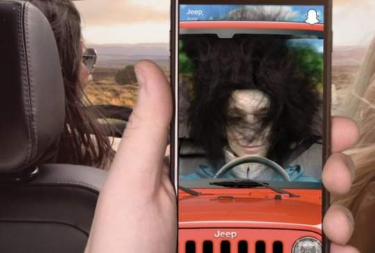 Jeep's First Snapchat Lens Makes Your Hair Fly Around Like You're Driving With the Top Down