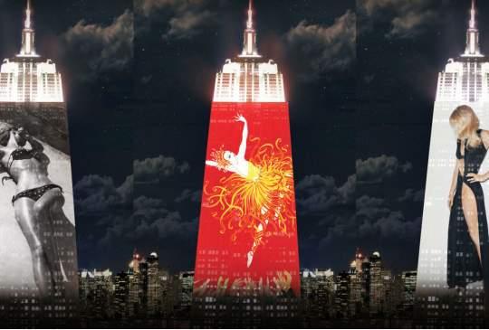 Harper's Bazaar viert 150ste verjaardag met spectaculaire projectie op het Empire State building