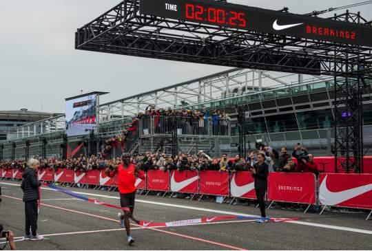 Nike's Breaking2 toch een hele mijlpaal