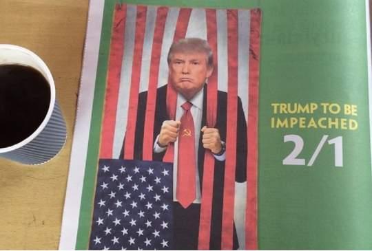 Trump achter de tralies? Wedden?