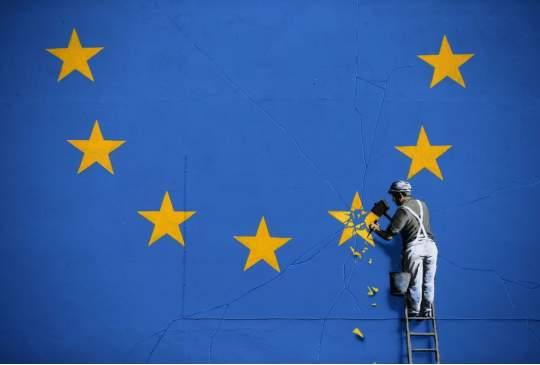 Jammer maar geen Banksy-kunstwerk voor een stem tegen Theresa May
