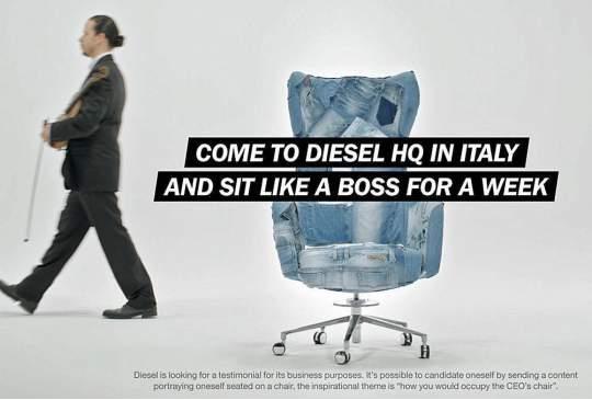 Diesel zoekt via Facebook een